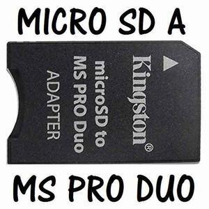 Adaptador Microsd A Memory Stick Pro Duo Dispositivos Sony