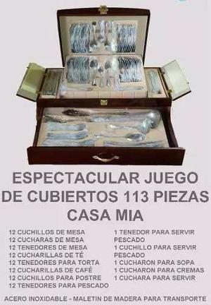Juego De Cubiertos De 113 Piezas