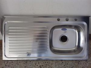 Lavaplatos Fregadero Fanainox Sobreponer 100x50