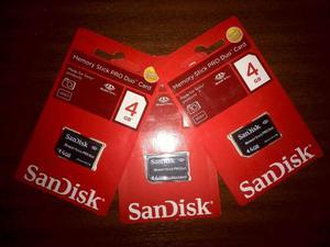 Memoria 4gb Memory Stick Pro-hg Duo Cámaras Sony Sandisk