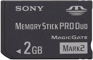 Memory Stick Pro Duo 2gb Sony