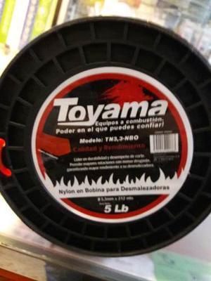 Nylon Para Desmalezadora Marca Toyama Rollo De 220 Metros