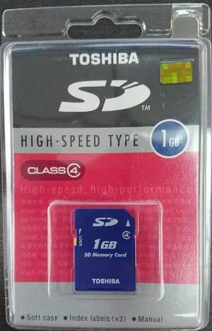 Tarjeta Sd 1gb Toshiba Original Camaras Videocamaras Consola