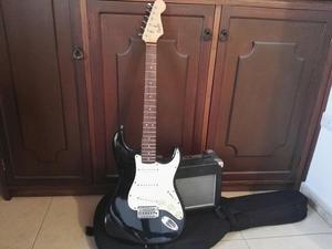 Guitarra Squier Bullet Y Amplificador
