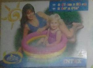 piscina intex para niños, cancha de bolleyball, portabebida