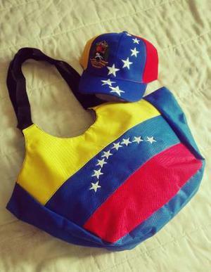 Bolso Tricolor Mas Gorra Venezuela