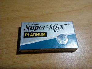 Hojillas De Afeitar Doble Filo Super Max Platinum
