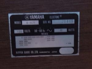 Organo Yamaha Electone B-4cr