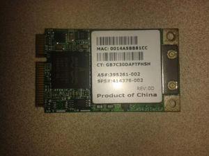 Tarjeta De Red Wi Fi Interna Para Lapto Mini Pci