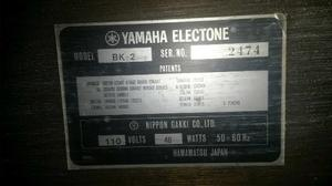 Órgano Yamaha Electone Bk- 2