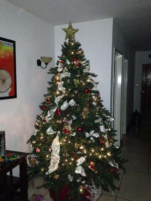 Arbolito De Navidad Con Luces Y Adornos Incluidos