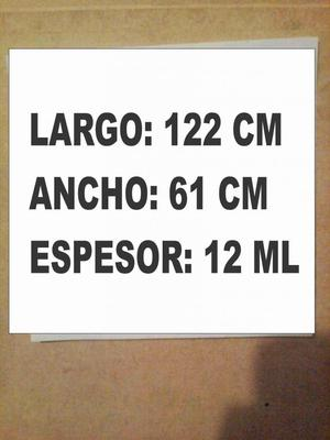 Laminas Mdf 12 Ml 1.22 x 61