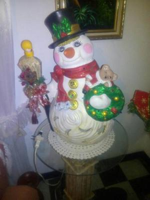 Lampara Navideña Muñeco De Nieve Decorativo