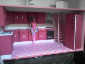 Casa De Muñecas Barbie En Mdf