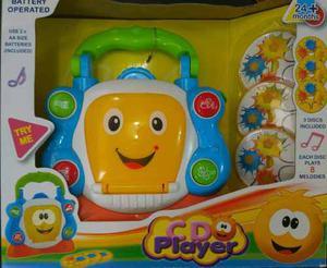 Cd Player Juguete Musical Para Niños