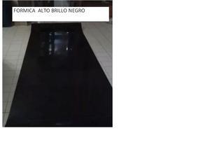 Formica Alto Brillo Negro