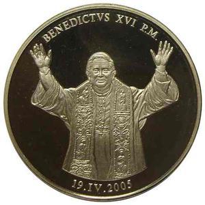 Medalla Del Papa Benedicto Xvi Del  - Crismón