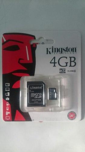 Memoria Micro Sd 4gb Kingston (100% Original)
