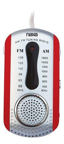 Mini Radio Portatil Am/fm C/corneta Naxa