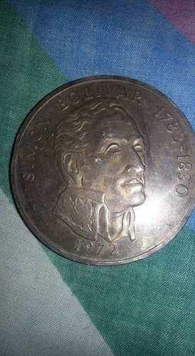 Moneda 20 Balboas Simon Bolivar