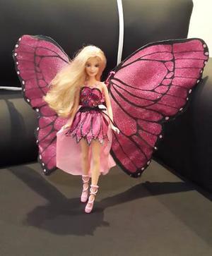 Muñeca Barbie Mariposa Mattel En Oferta.... Usada !!!