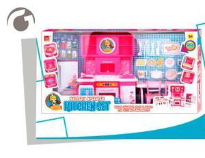 Set De Cocinas Para Muñecas Barbies Luces