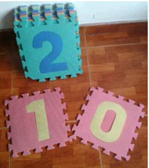 Alfombra De Forma Para Protección De Bebés 10 Pzas