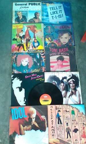 Discos Lps De New Wave 80s Lote Completo De 11 Discos