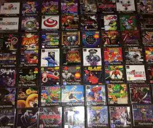 Juegos De Playstation 1 (todos, Pasta Negra, 100% Calidad)