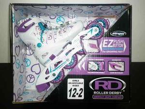 Patines En Linea Y Kit De Proctectores Roller Derby