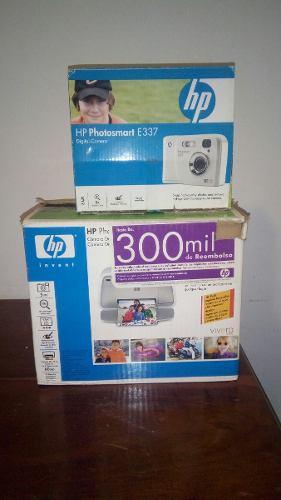 Camara Hp 5 Mp Y Impresora De Fotos Hp A433 Portatil