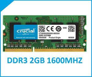Crucial 2gb Ddr Mhz Pc3l- Memoria Ram Laptop