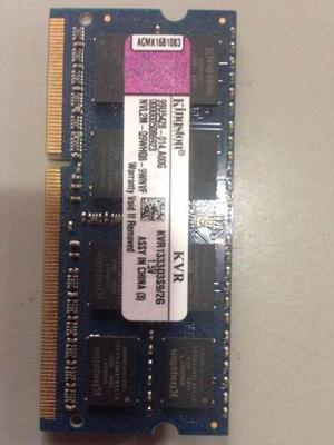 Memoria Ram Ddr3 4gb (2gbx2) Para Laptop Kingston mhz