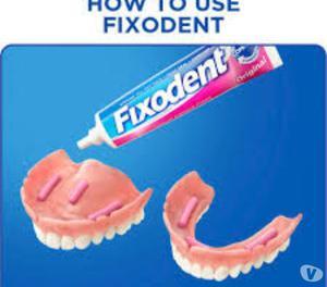 fixodent crema adhesiva para protesis dentales