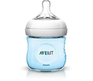 Tetero Biberon Bebes Avent Natural 4 Oz 125 Ml Azul
