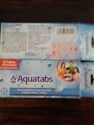 Aquatabs De Bayer 3 X % Originales.