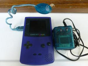Game Boy Color Con Tres Juegos, Lampara Y Cable Power