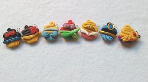 Apliques Y Dijes De Cupcakes En Masa Flexible.