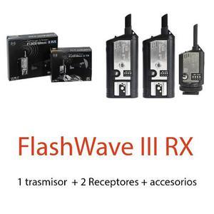 Disparador Inalambrico Radio Trigger Flashwave 3 Rx Original
