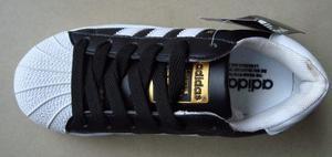 Kp3 Zapatos Adidas Superstar Negro Y Blanco Niños 30 Al 35