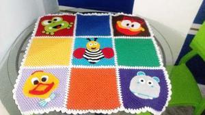 Manta Tejida A Crochet, Con Animales:-)