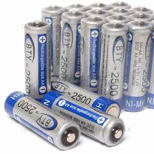 Pila Bateria Recargable Aa mah Ni Mh 1.2v Marca Bty