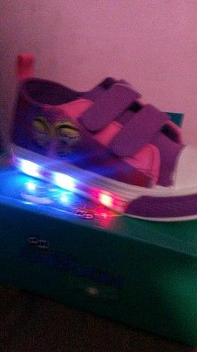 Zapatos Deportivos Gomas Con Luces Para Niñas