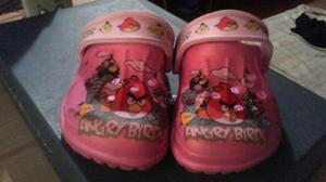 crocs originales para niñas angry birds