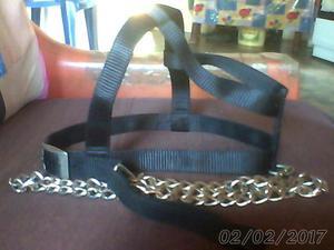 pechera con cadena grande negra