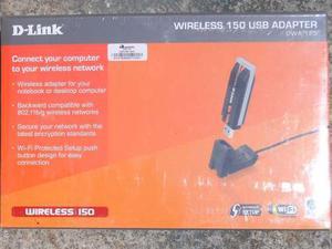 Adaptador Usb D Link Dwa 125 Wireless N 150mbps Wifi