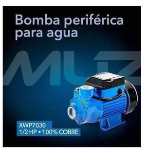 Bomba Periférica Para Agua 1/2 Hp Muzin 100% Cobre
