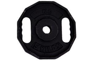 Disco Para Pesas 5kg Con Goma K6 (unidad)