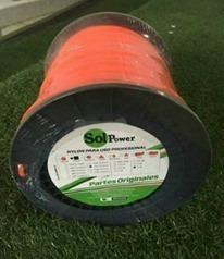 Nylon Para Desmalezadora De 3.3m.m Color Naranja