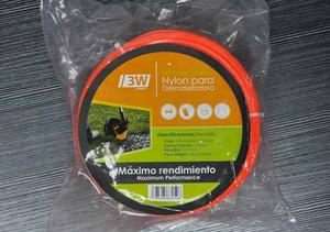 Rollo Nylon Desmalezadora Cuadrado De 3.3mm 209 Metros 3w